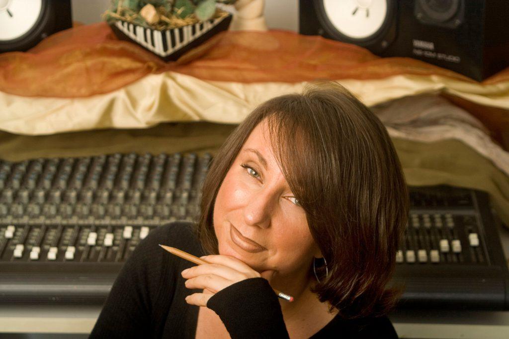 Susan Friend songwriting headshot, NYC recording studio